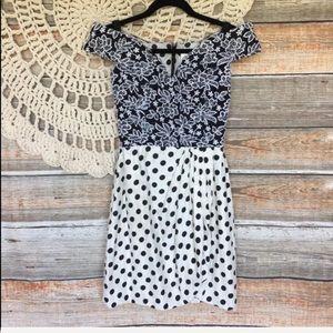 Vintage | 80s Scaasi Boutique Polka Dot Mini Dress
